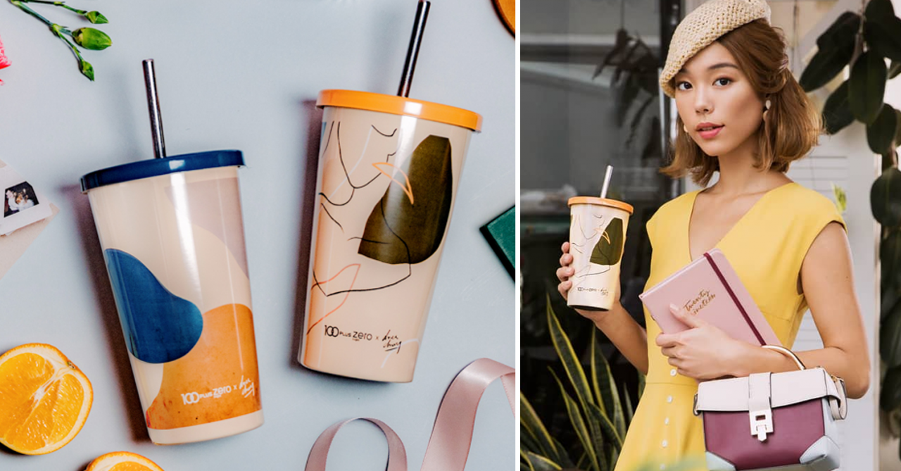 100PLUS x Drea Chong Are Launching Limited Edition Tumblers Inspired By 2019's Bold Prints Trend