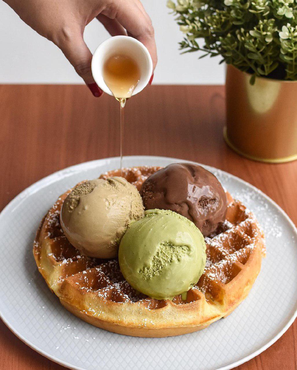 Pobo Gelato waffle gelato