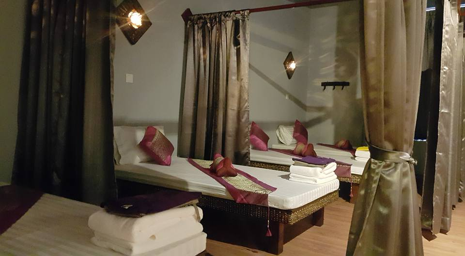 Massage beds setup at Ancient Thai Herbal Spa & Beauty