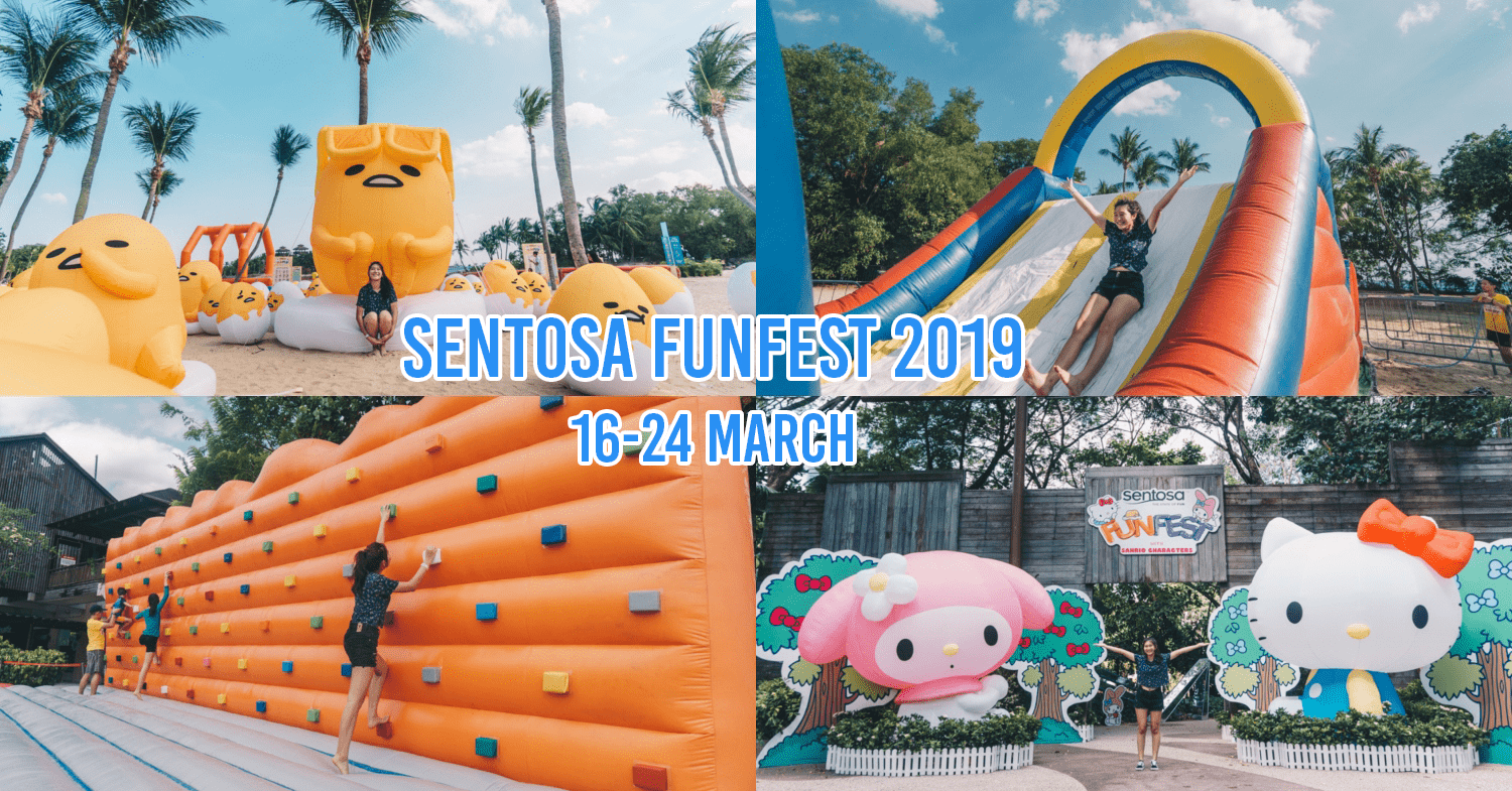 Sentosa FunFest 2019 Is A Free-Entry Festival With A Crazy-Big Gudetama Inflatable And Hello Kitty Photo Ops