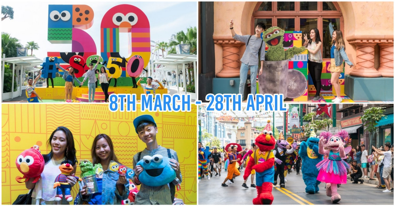 Universal Studios Singapore Has A Huge Sesame Street Party With New Shows & Photo Ops With Big Bird, Elmo & Oscar