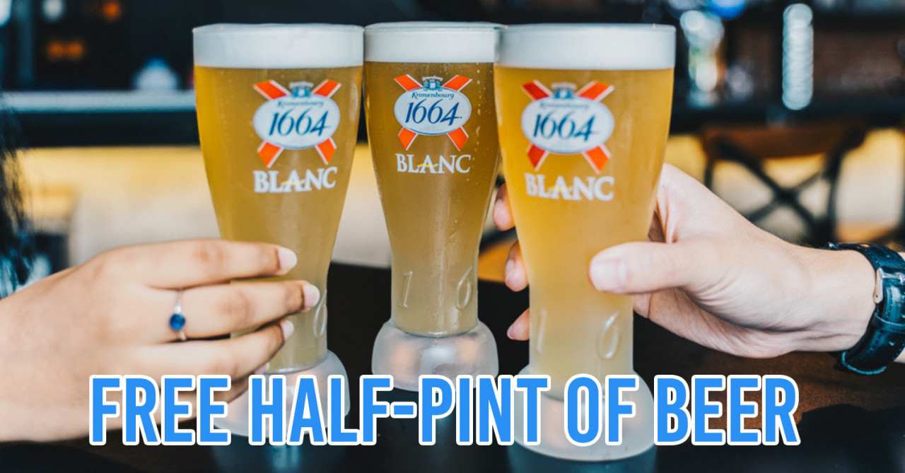 Kronenbourg 1664 Blanc Now Has Pints On The House At Over 70 Bars Around Singapore