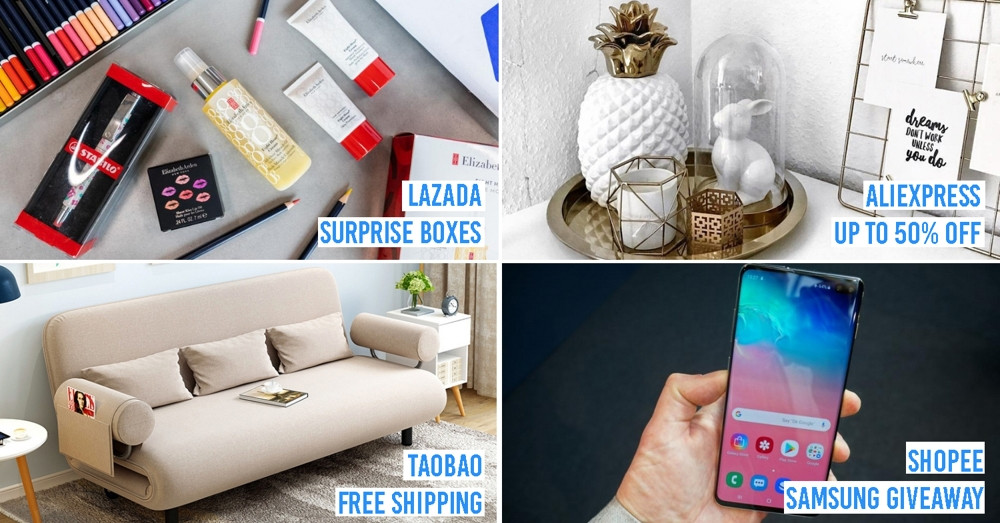 There're 4 Huge Online Sales From Now Till 31 March On Shopee, Lazada, Taobao, & AliExpress