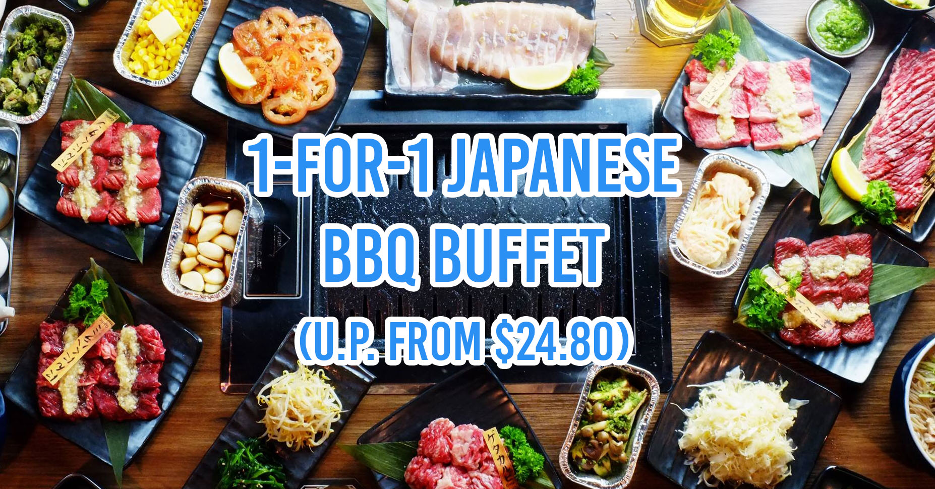 1 for 1 BBQ buffet - April 2019 lobangs