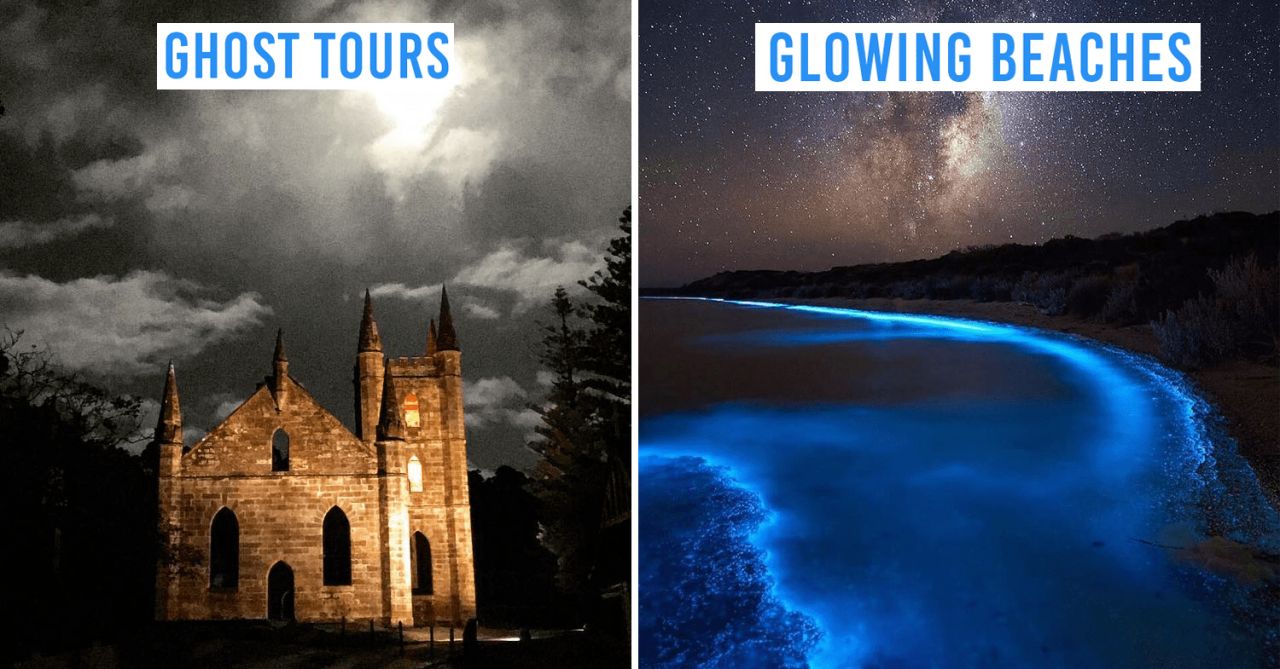 "8 Things To Do In Tasmania After Dark For Night Owls Like Ghost Tours & ""Glow-In-The-Dark"" Beaches"