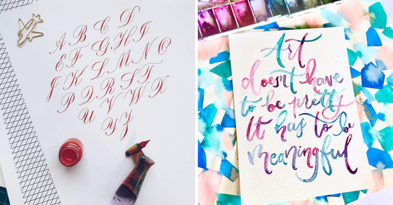 8 Calligraphy Classes In Singapore That Will Teach You Brush Lettering Worthy Of Pinterest