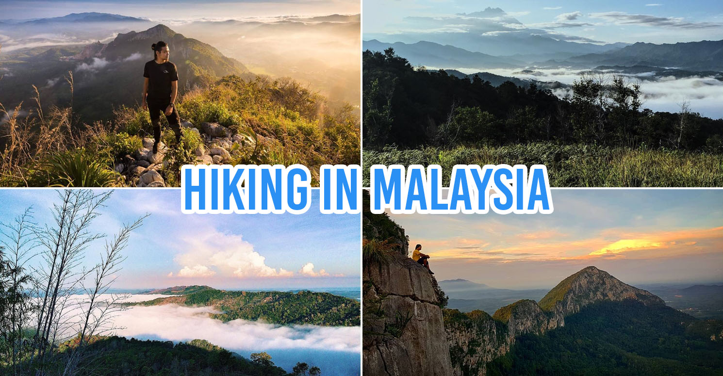 Collage of hiking trails in Malaysia