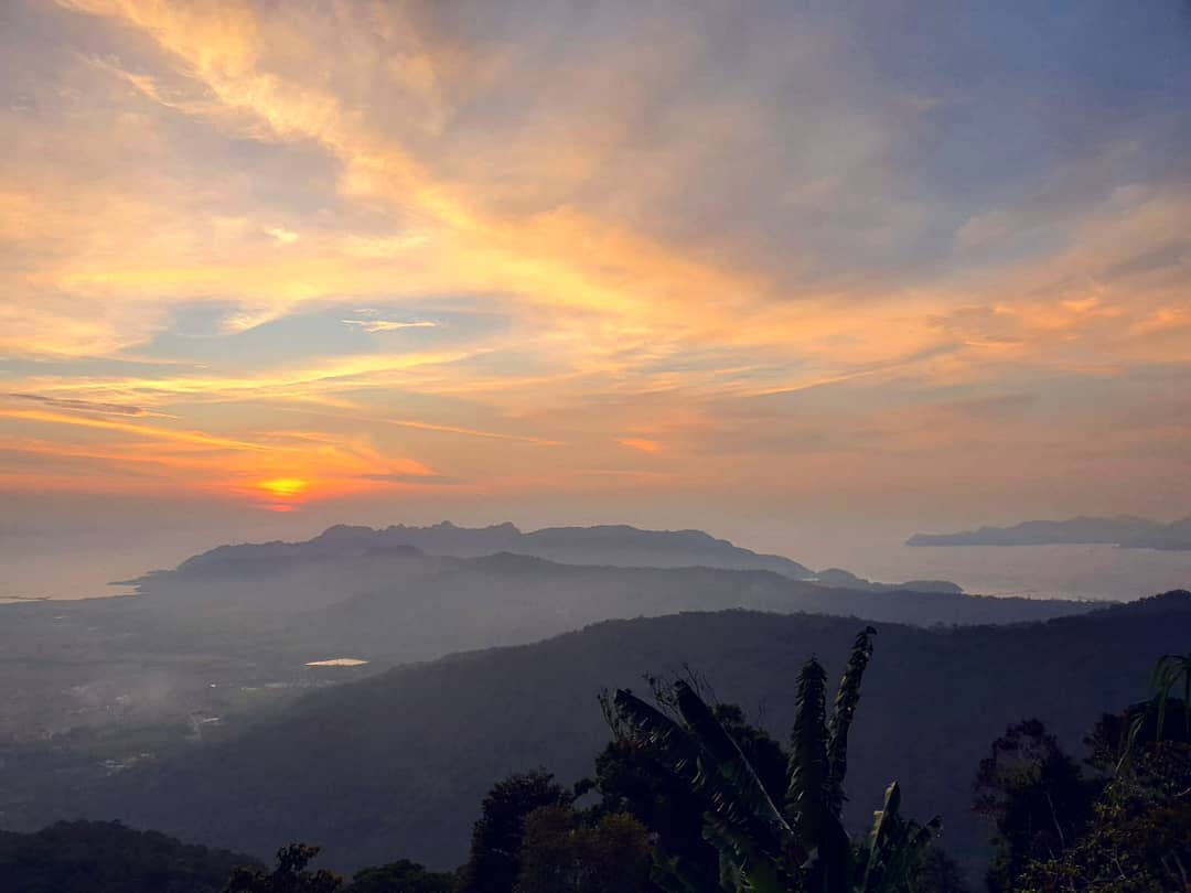 Sunset views at Mount Raya Langkawi