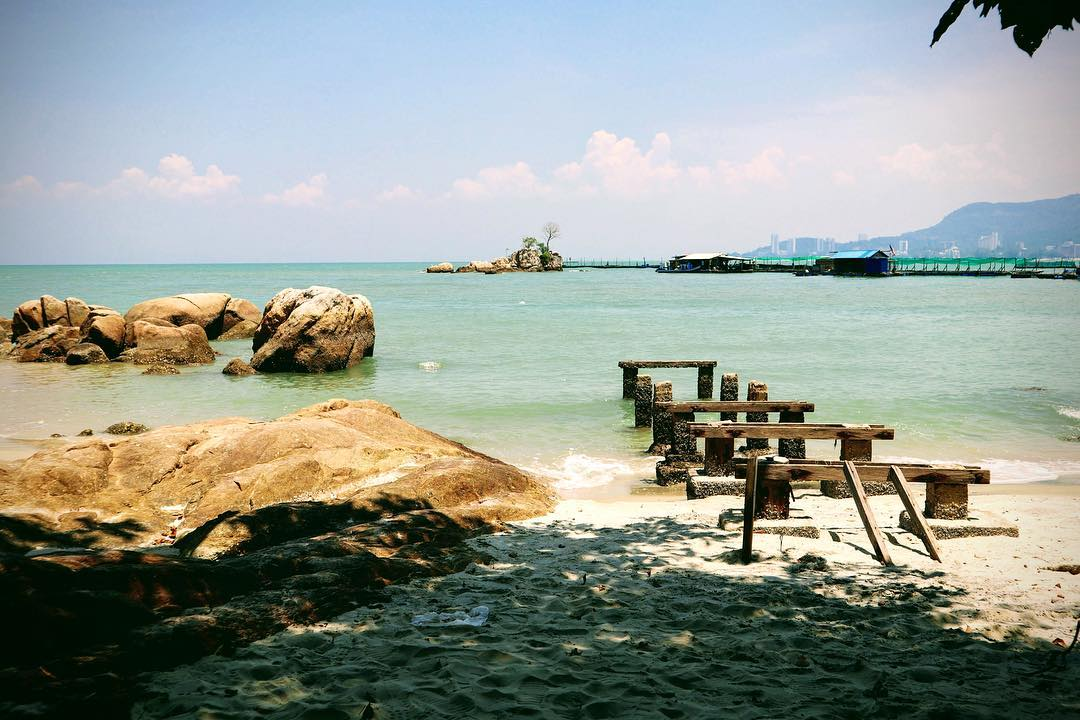 Secluded beach at Penang National Park