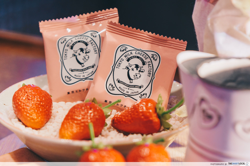 Tokyo Milk Cheese Factory's new Strawberry & Milk Tea Cookies