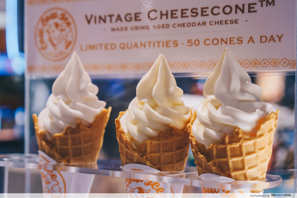 The Cow Cow soft serve cones are limited to only 50 handmade cones a day