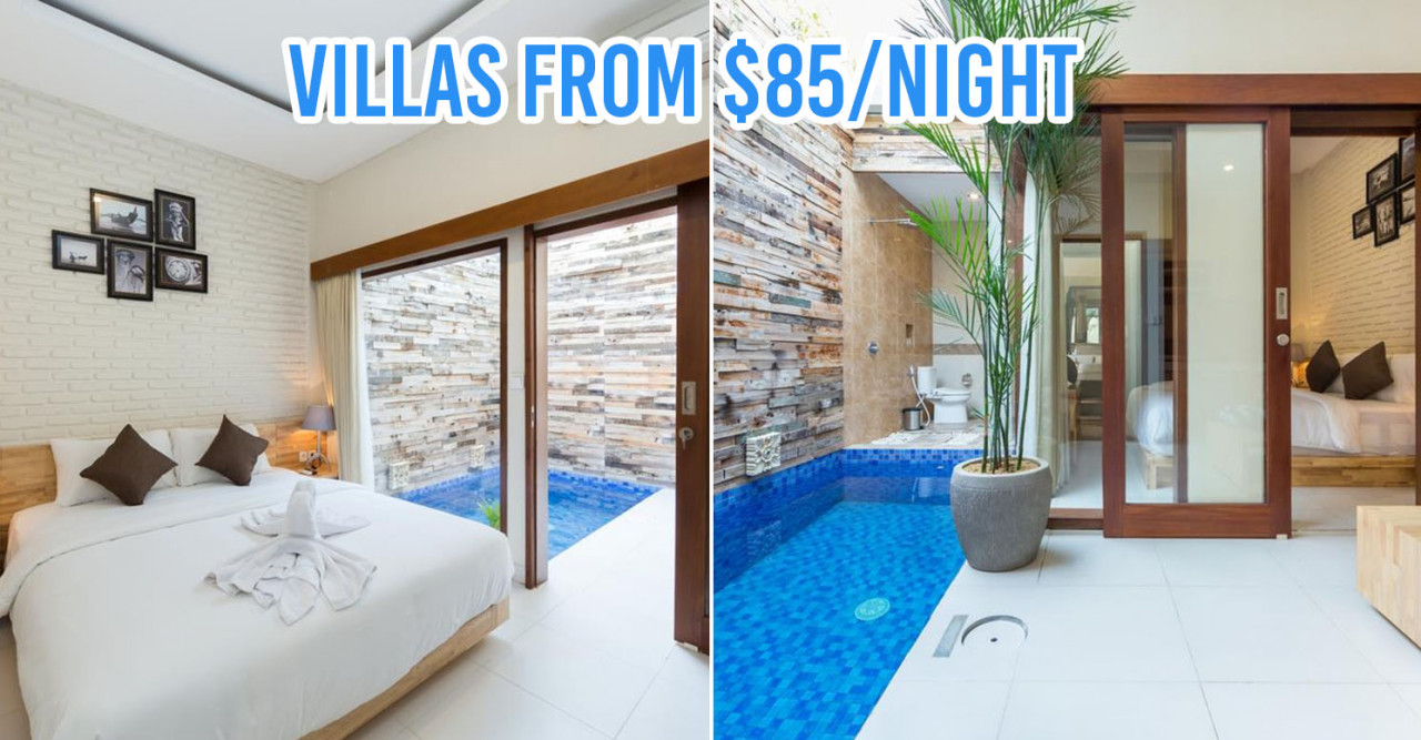 8 Bali Villas With Private Pools At $120/Night And Below For Couples & Large Group Getaways
