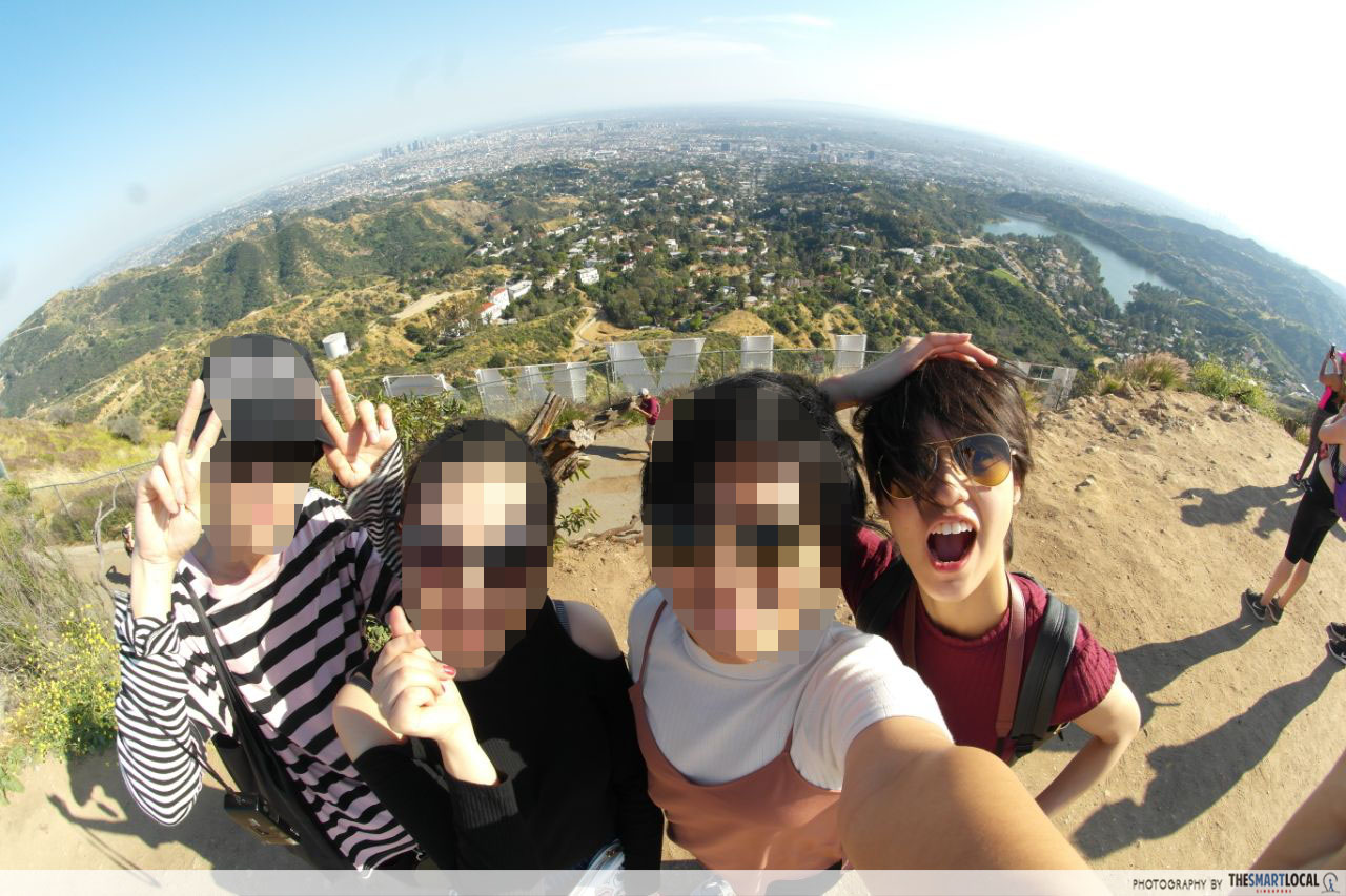 Group pic behind Hollywood Sign