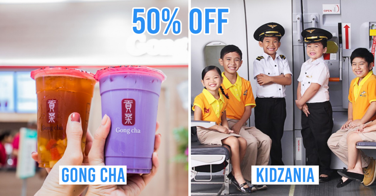 MyNTUC App Deals - 50% Off Gong Cha, 1-For-1 Madame Tussauds Singapore Tix, 50% Off KidZania Singapore
