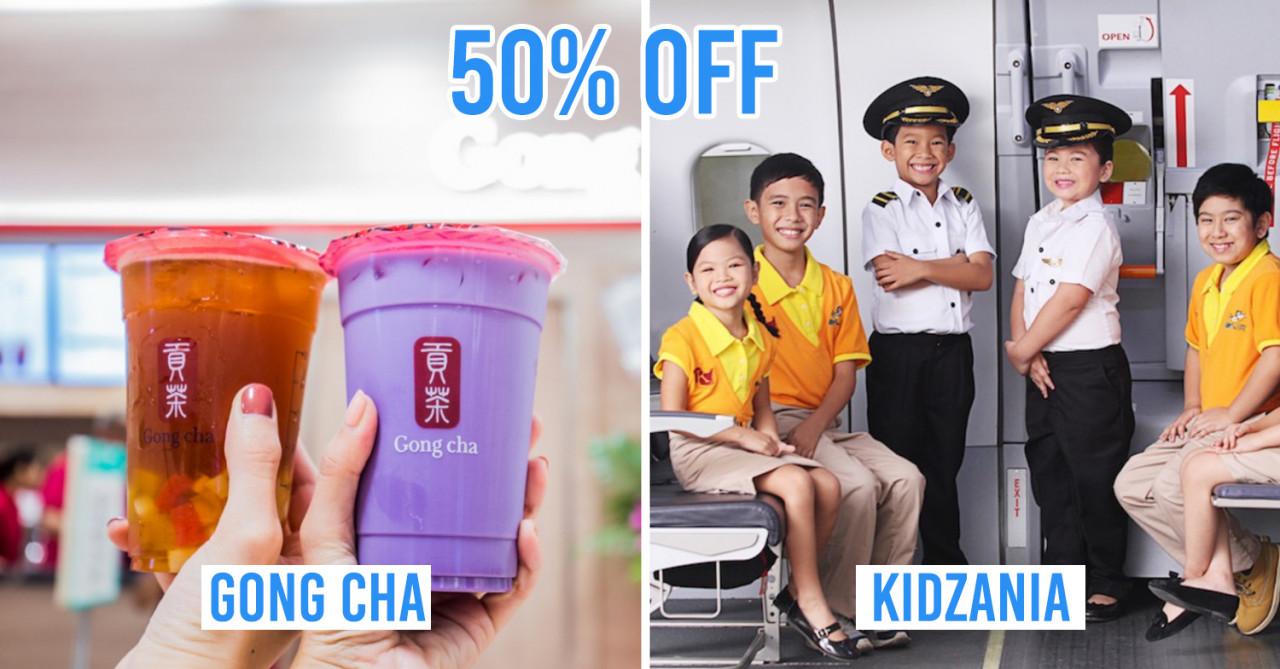 MyNTUC App Deals - 50% Off Gong Cha, 1-For-1 Madame Tussauds Singapore Tix, 50% Off KidZania Singapore