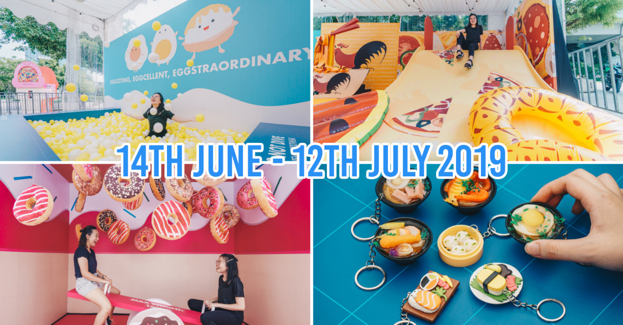 """HarbourFront Centre Now Has A """"Food"""" Wonderland Filled With A Pizza Slide, An Egg Ball Pit & A Giant Ice Cream Capsule Machine"""