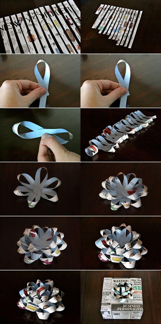 Как сделать цветочек из бумаги на подарок