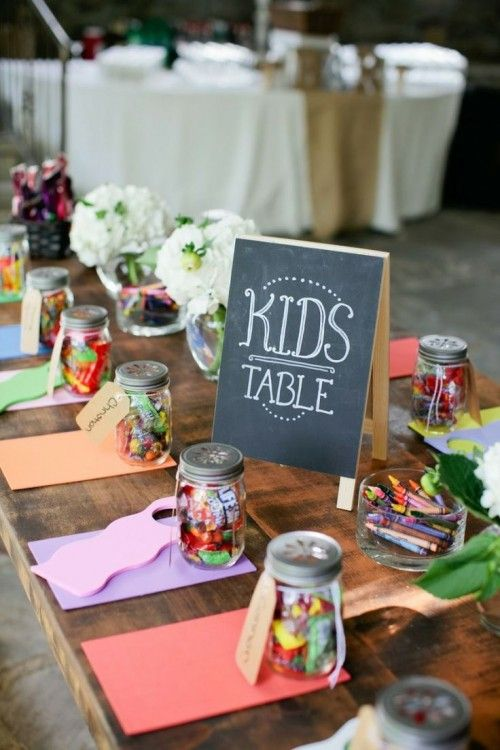 30 brilliant wedding ideas to make your special day unforgettable 24 kids table junglespirit Gallery