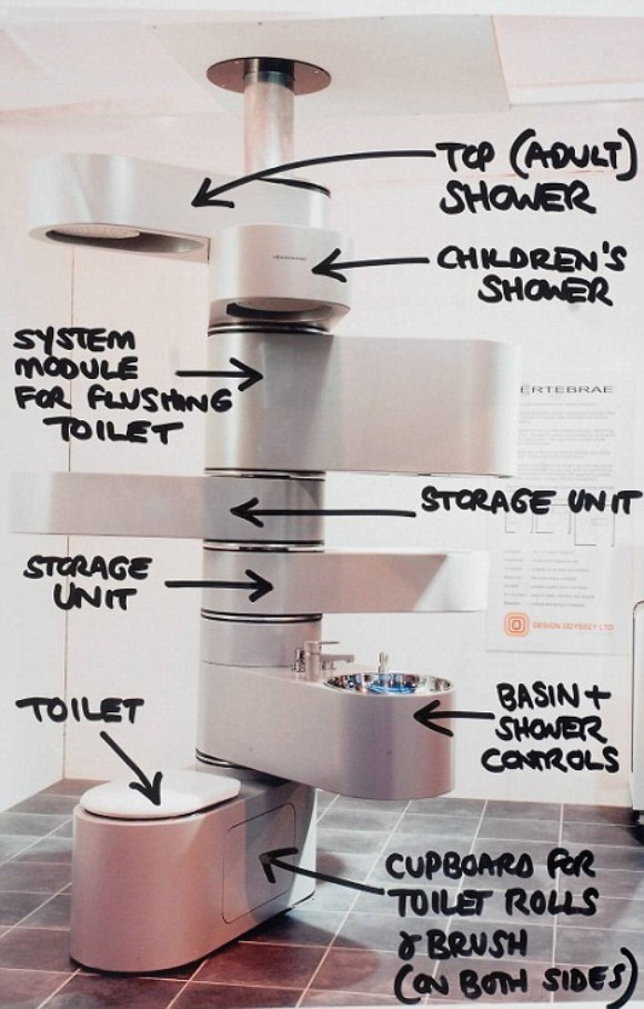 features romantic space saving folding. 16. All In One Vertical Bathroom Features Romantic Space Saving Folding
