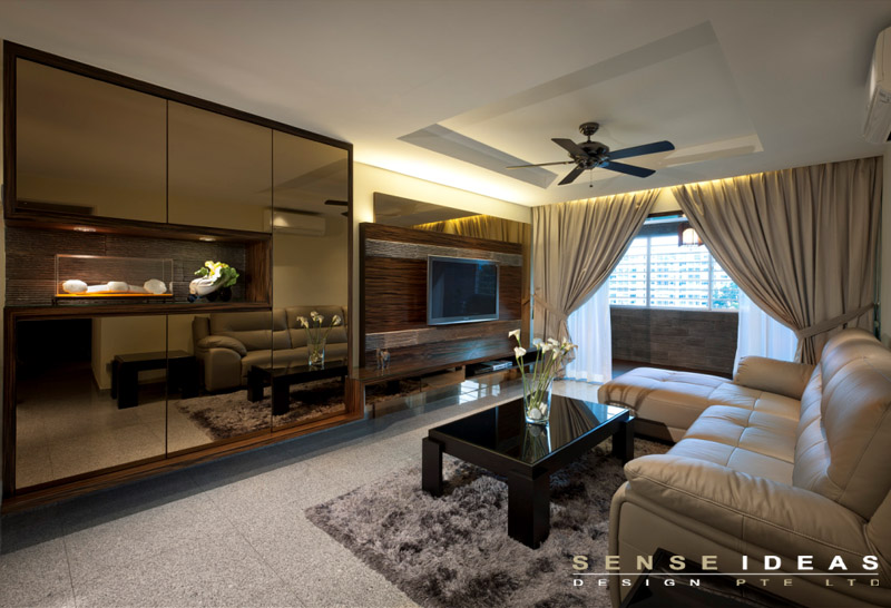 15 singapore homes so beautiful you won 39 t believe they re for Living room interior design singapore