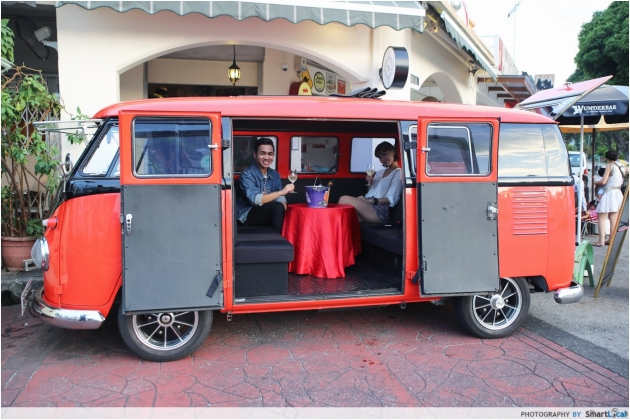 Have a One Of A Kind Vintage Valentines' at Kombi Rocks Diner