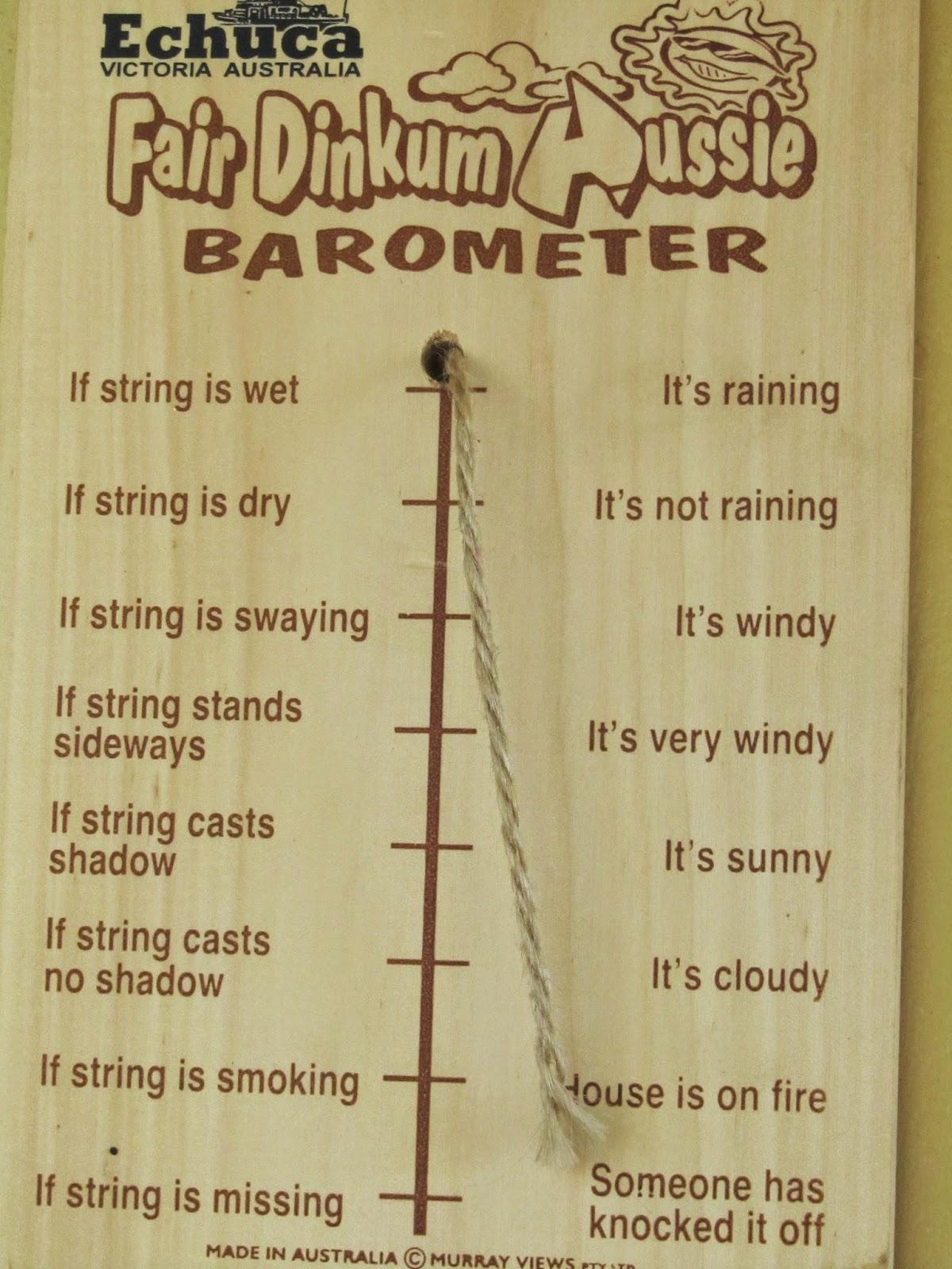 how to read a barometer australia