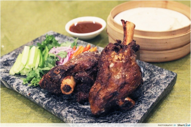 Royal Pavilion Celebrates Chinese New Year Differently With A Fried Lamb Shank!