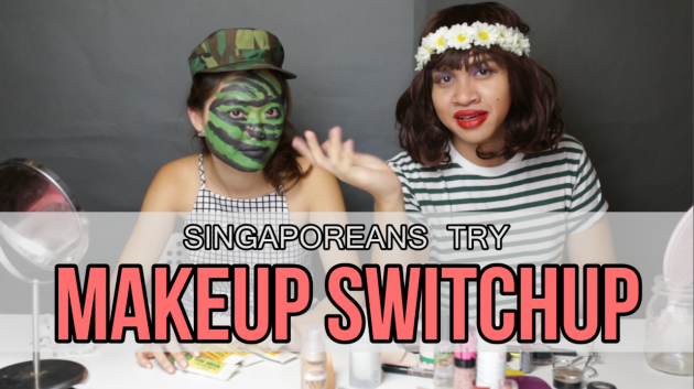 Singaporean Girls Try Camo, Guys Try Make-up! - Singaporeans Try Ep 02: Make-up Switch Up