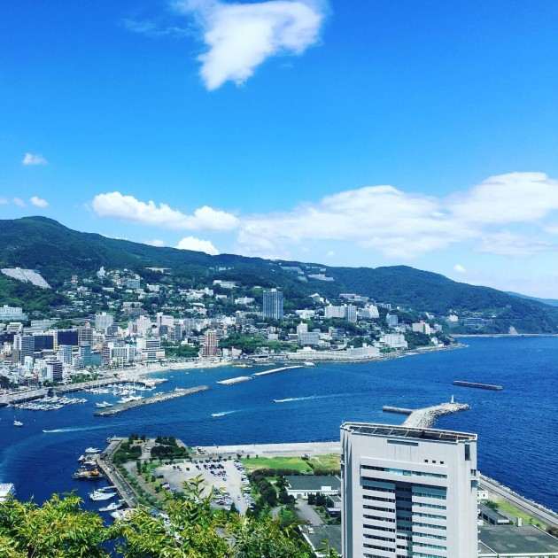 view of the atami coast
