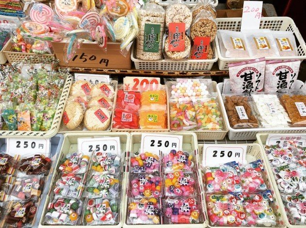 various kinds of traditional sweets can be found here