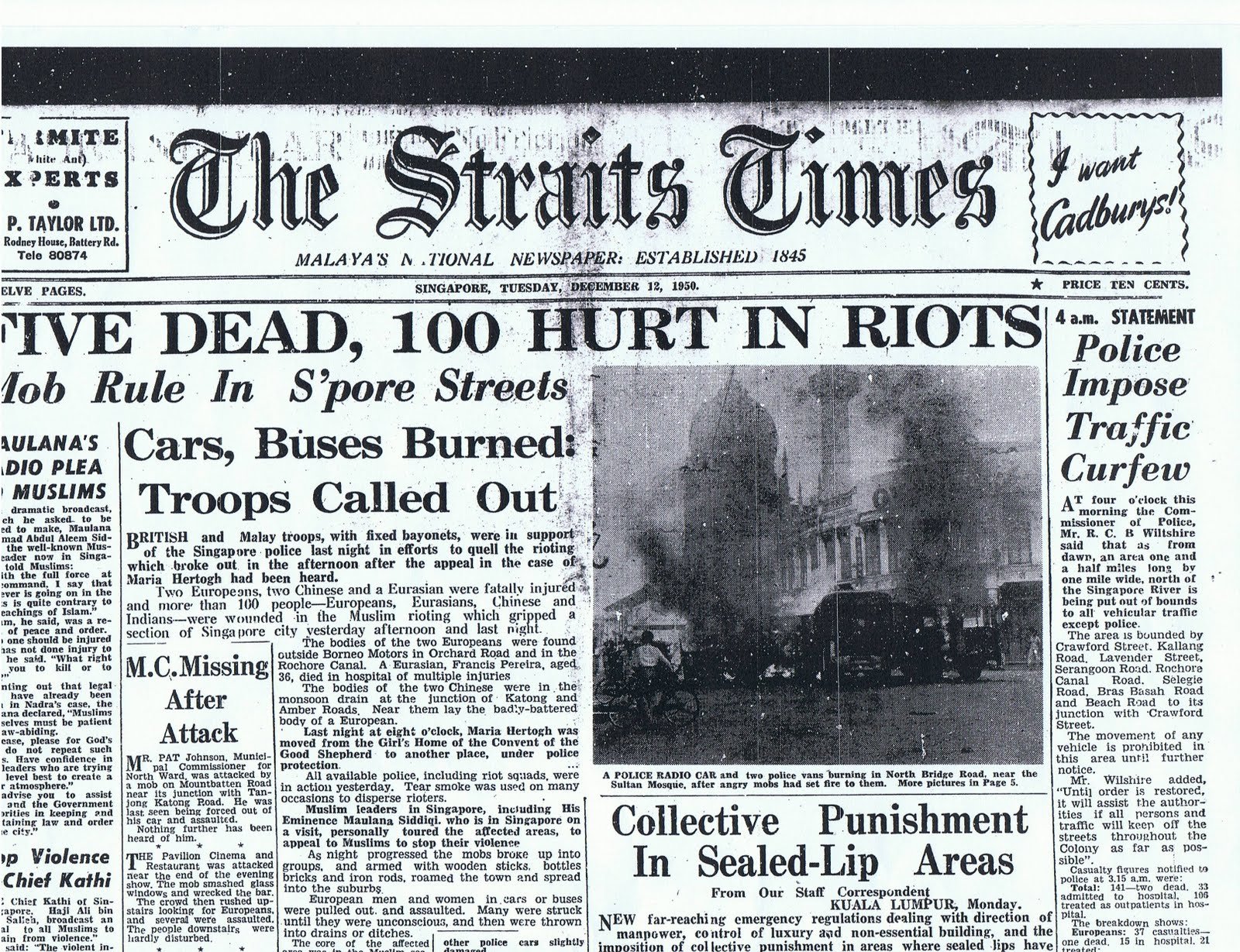 The 5 Worst Riots That Rocked Singapore Thesmartlocal 2 Way Switch Timeline