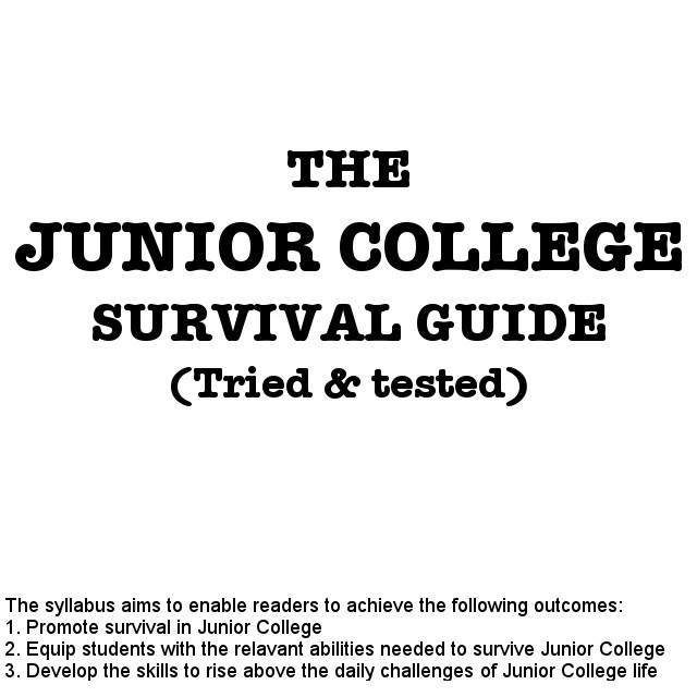 Ten Survival Tips for Junior College students in Singapore