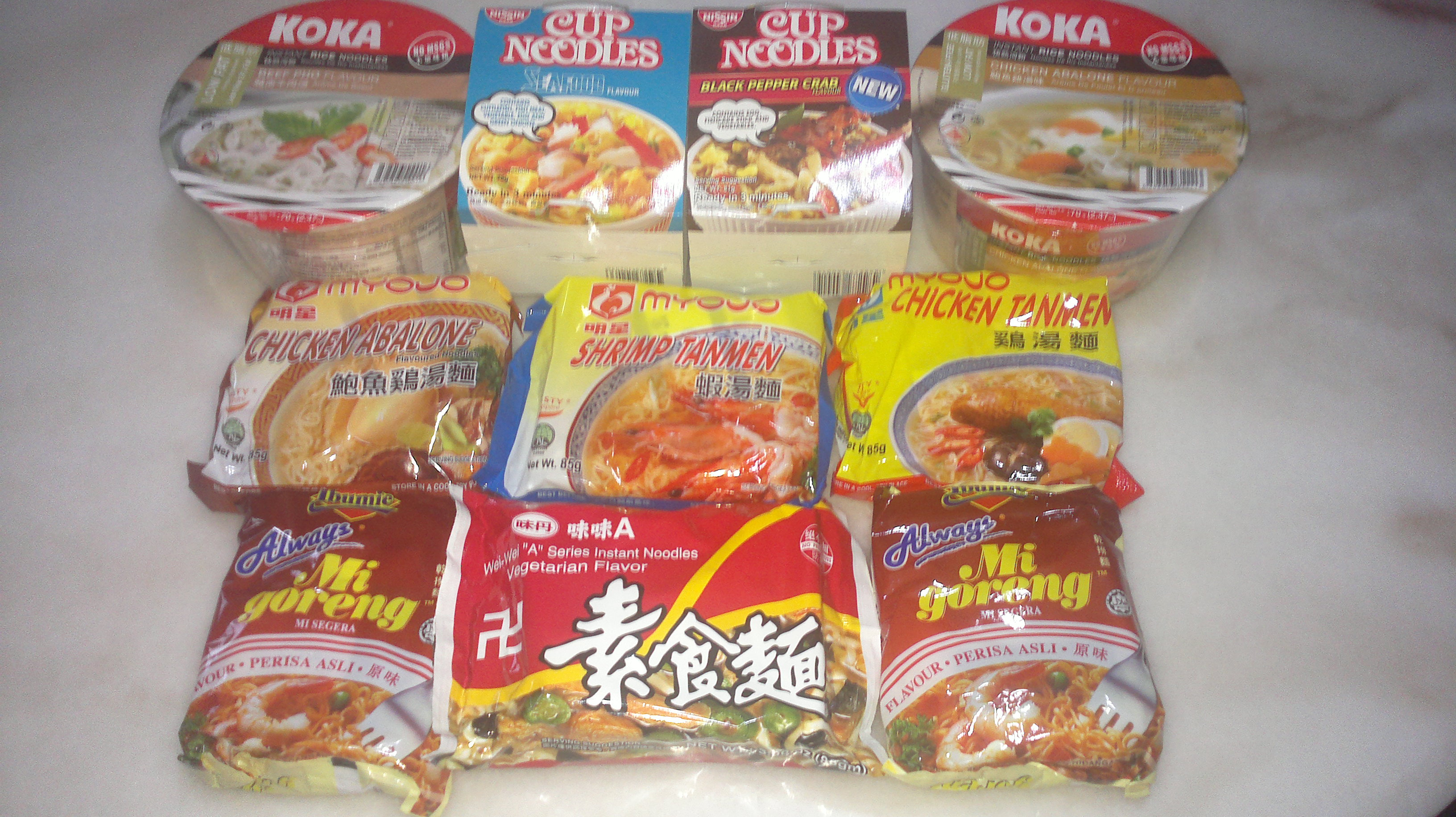 Instant noodles wax fdating