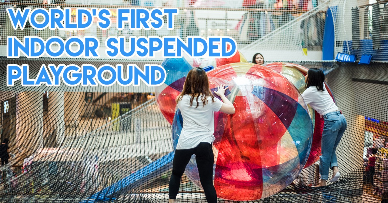 first suspended playground balls net big
