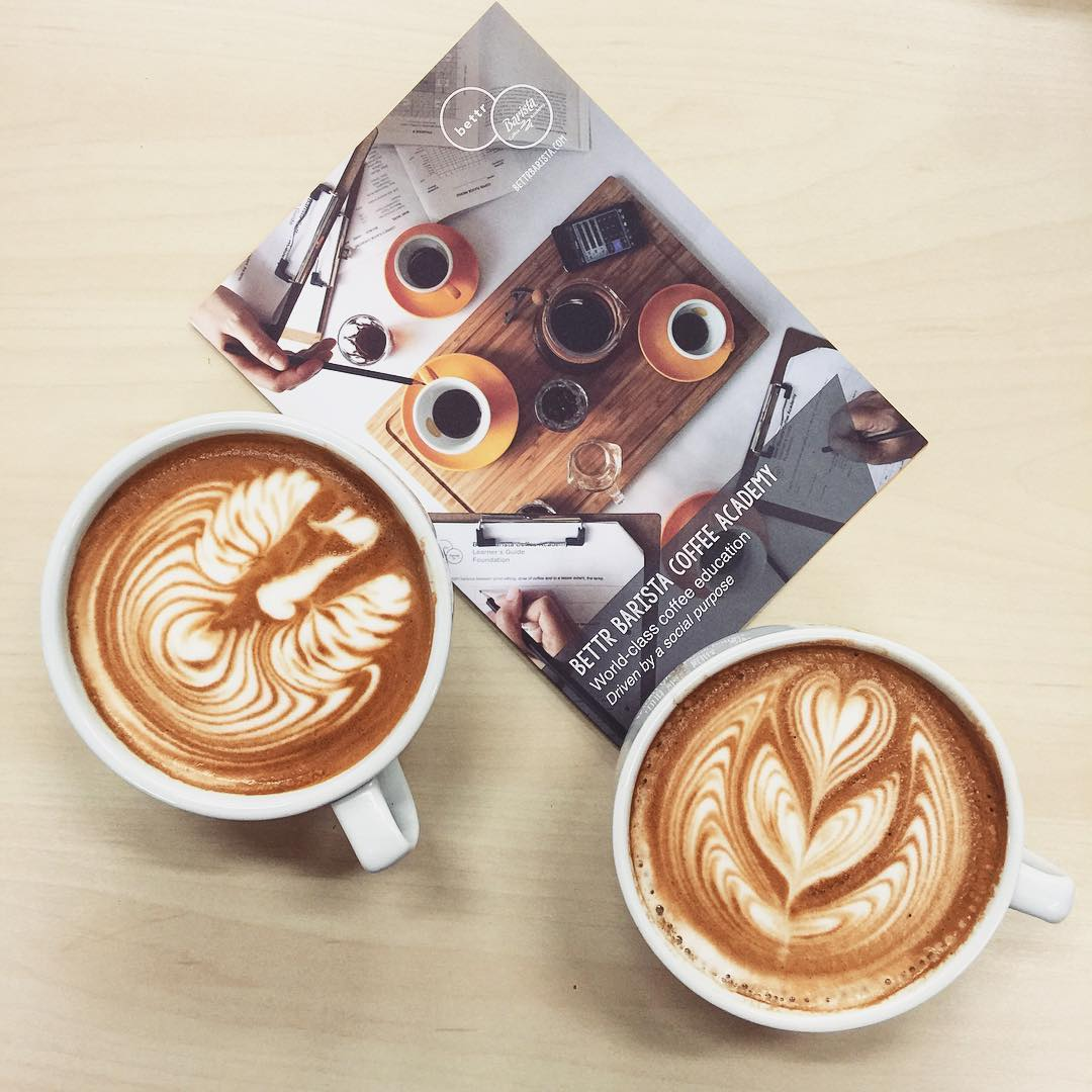 latte art bettr barista coffee academy
