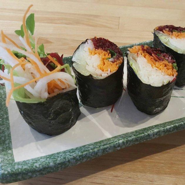 vegan sushi rolls allspice