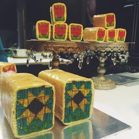 colourful malay roll cake design zan's treats halal