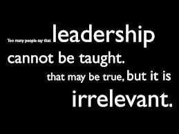 Are leaders born or trained?