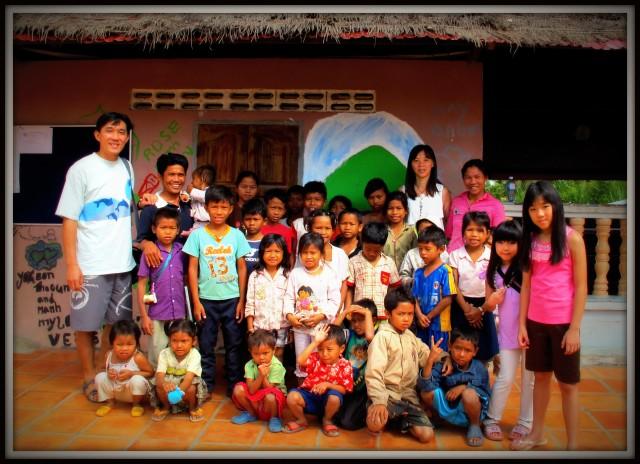 Humanitarian tourism in Siem Reap, Cambodia.
