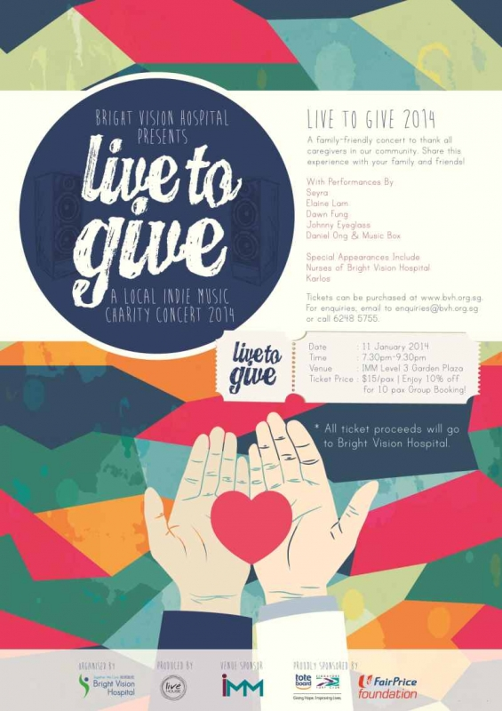 """""""Live to Give"""" Local Indie Music Charity Concert"""
