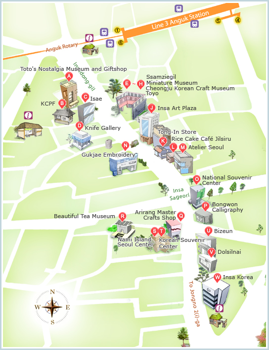 Howto Guide to Shopping In Seoul Korea 7 Must Visit Shopping – Seoul Tourist Attractions Map