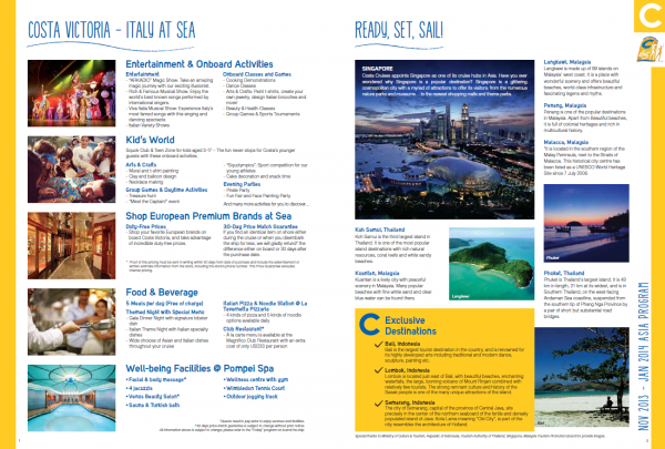 NATAS August 2013 Guide - The new Costa Victoria!