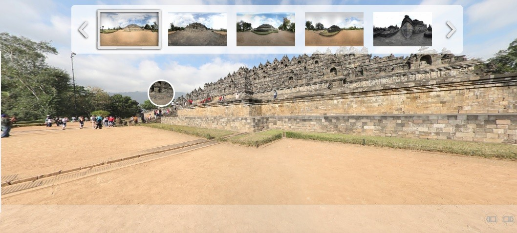 borobudur 360 degree view