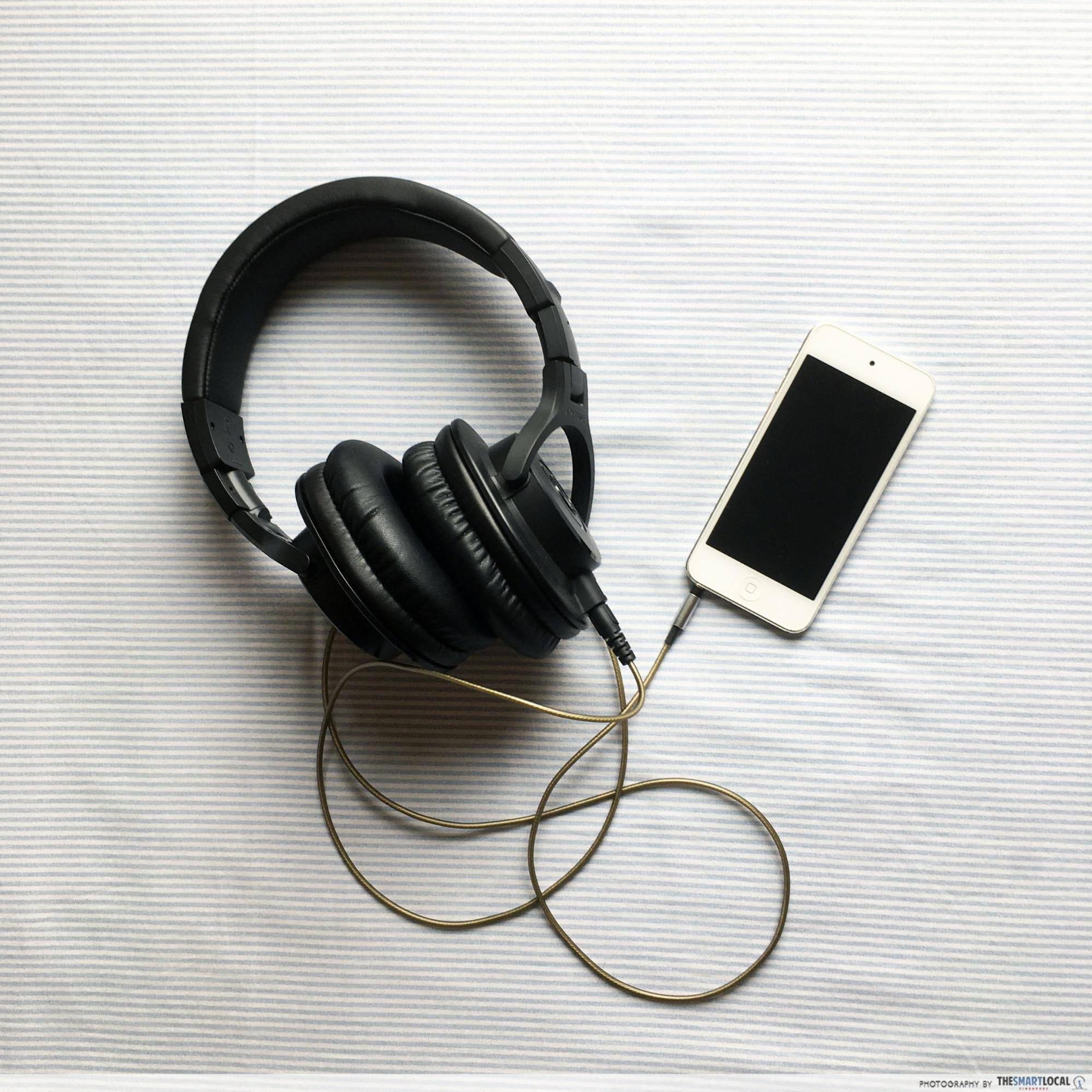 listen to music and podcasts - self-quarantine