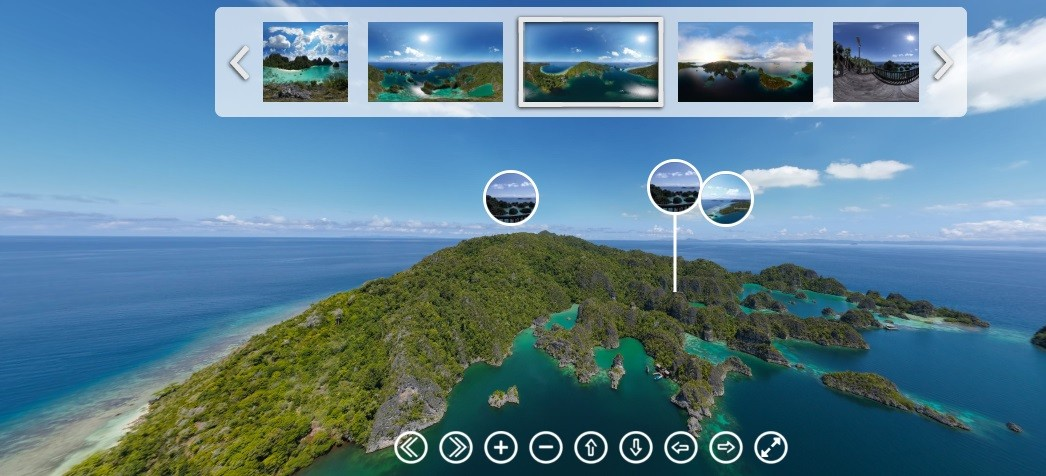 raja ampat 360 degree view