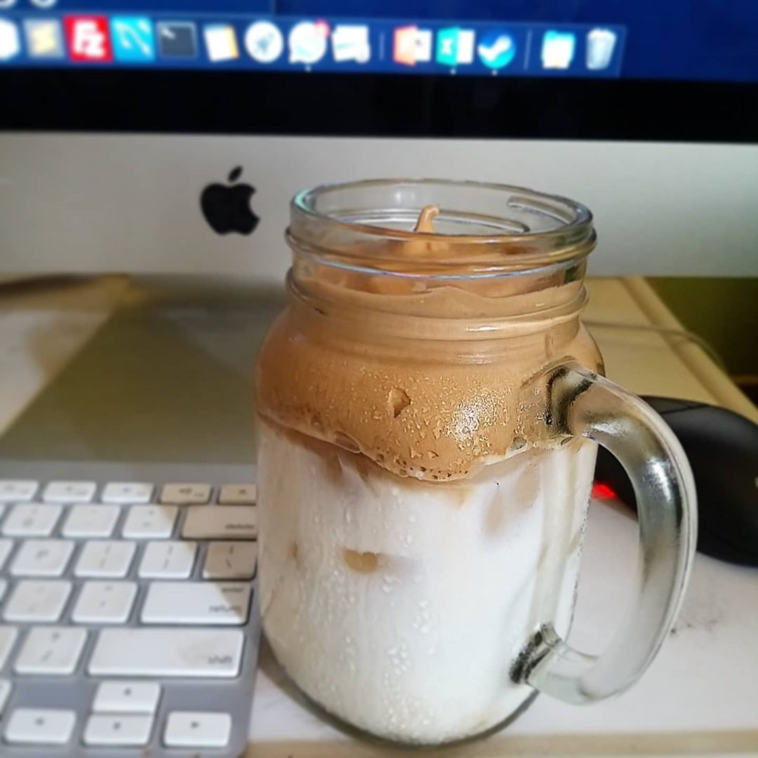 Dalgona Coffee while working from home - Indonesians join Dalgona Coffee Challenge