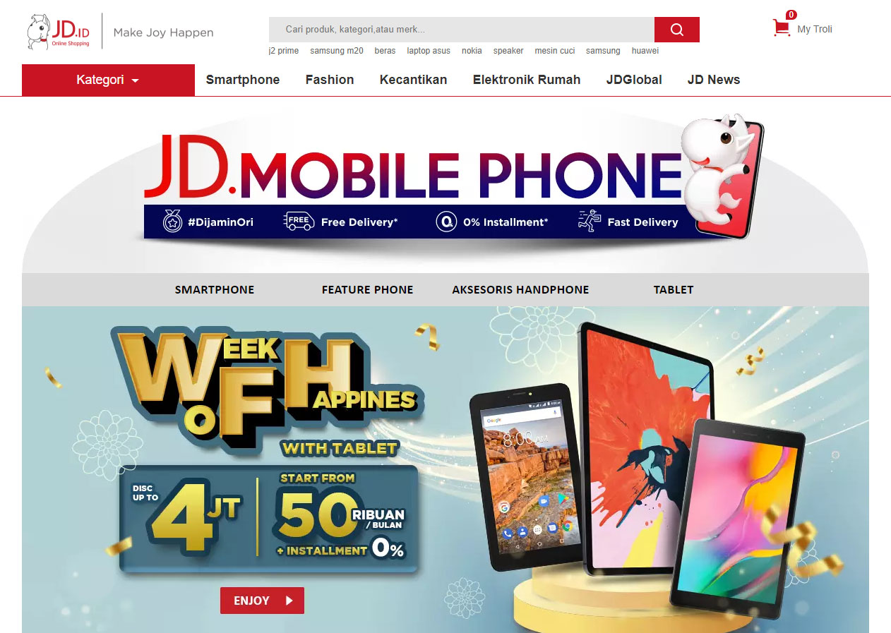 JD ID Indonesian online shopping website
