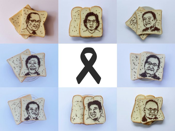 Meses and bread art to honor fallen healthcare workers