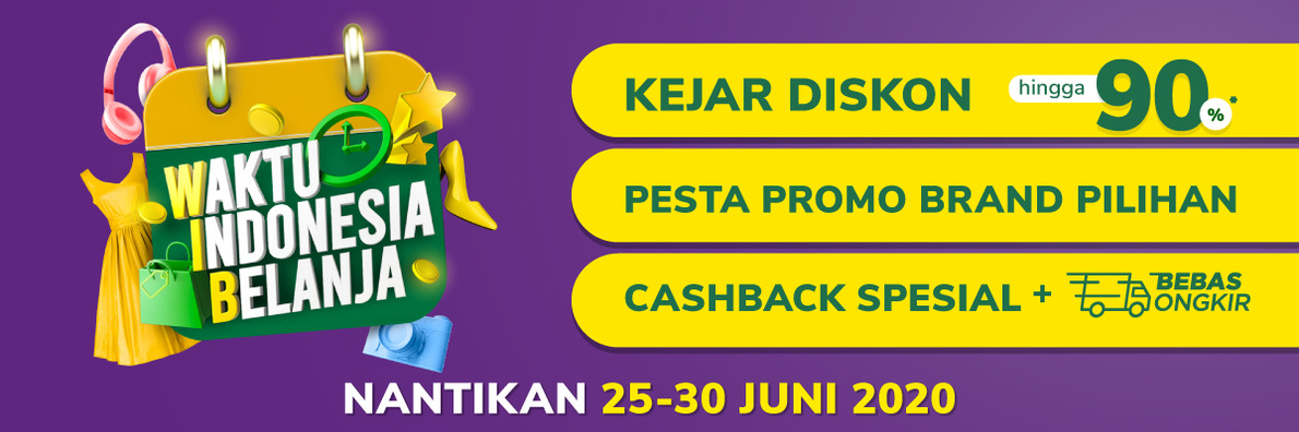 Tokopedia Waktu Indonesia Belanja 25-29 June