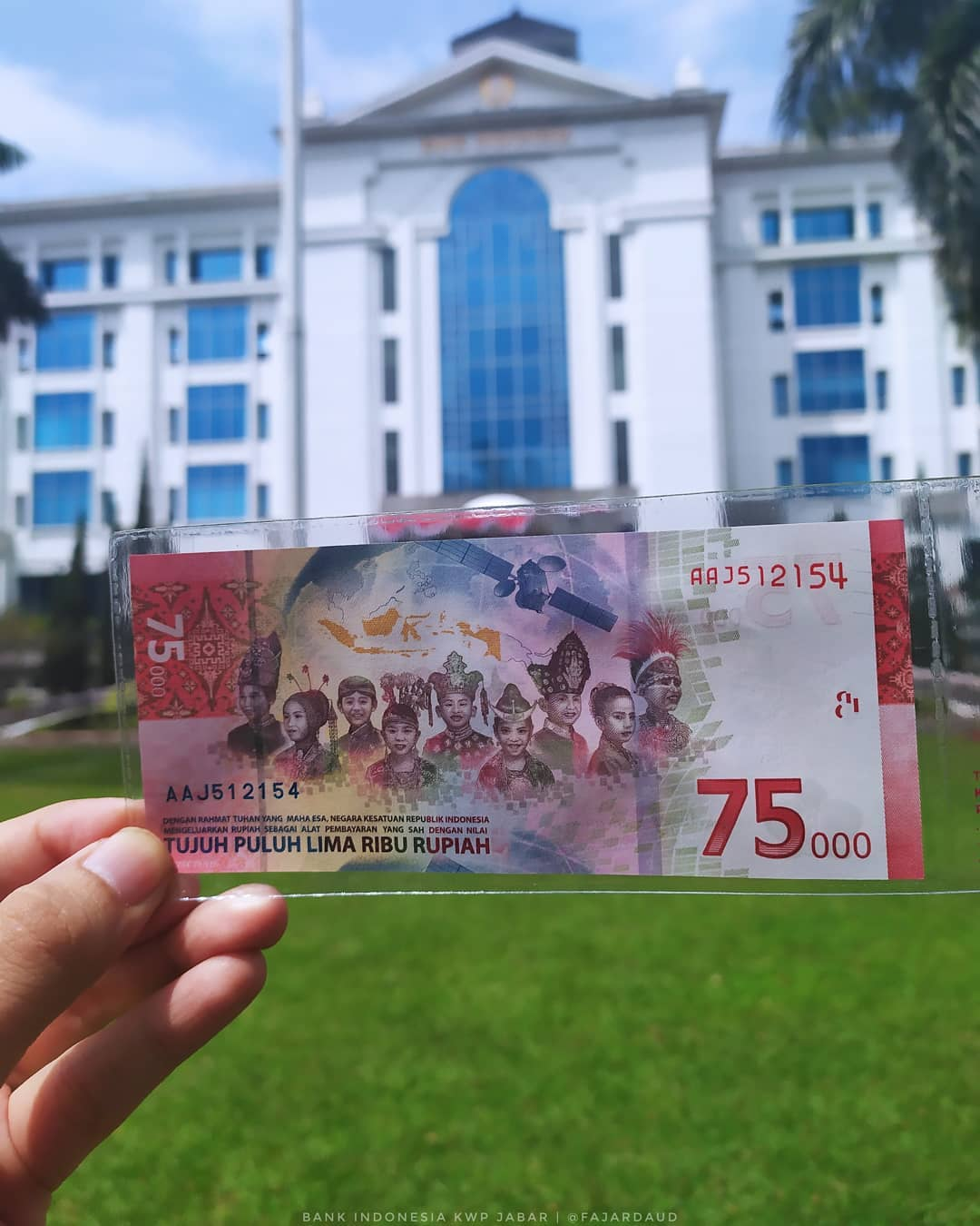 75th Independence Day Banknote - Back